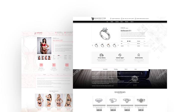 Lingerie & Engagement eBay Template Designs