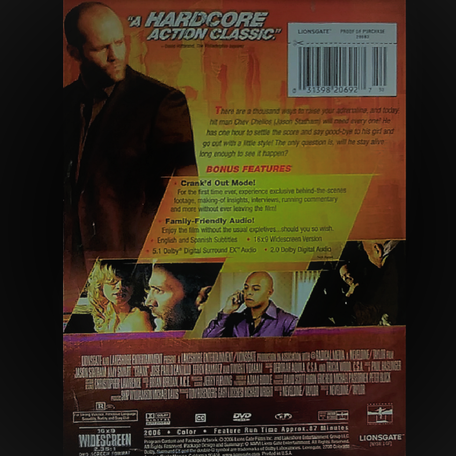 Jason Statham In His Epic Adrenaline Fueled Classic Dvd Thriller