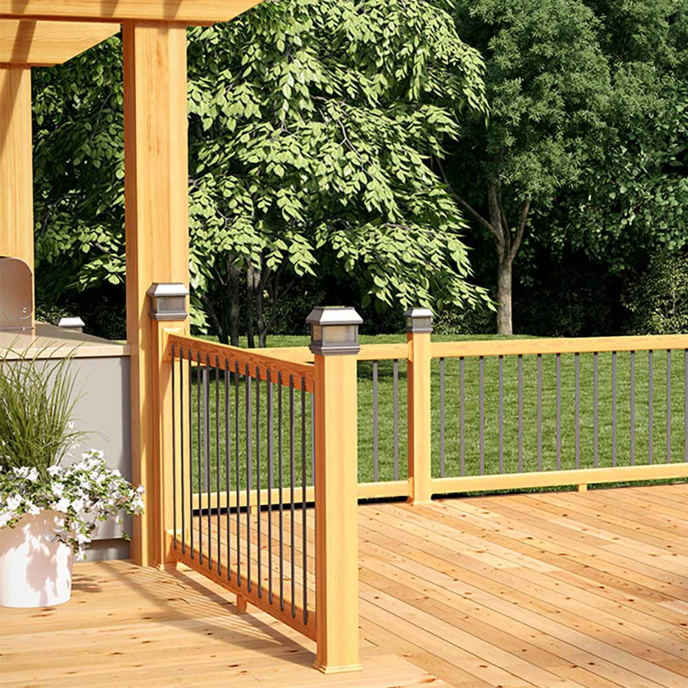 Composite Deck Baluster Chestnut Brown 1.25-in x 33.5-in 60 PK. Common Actual