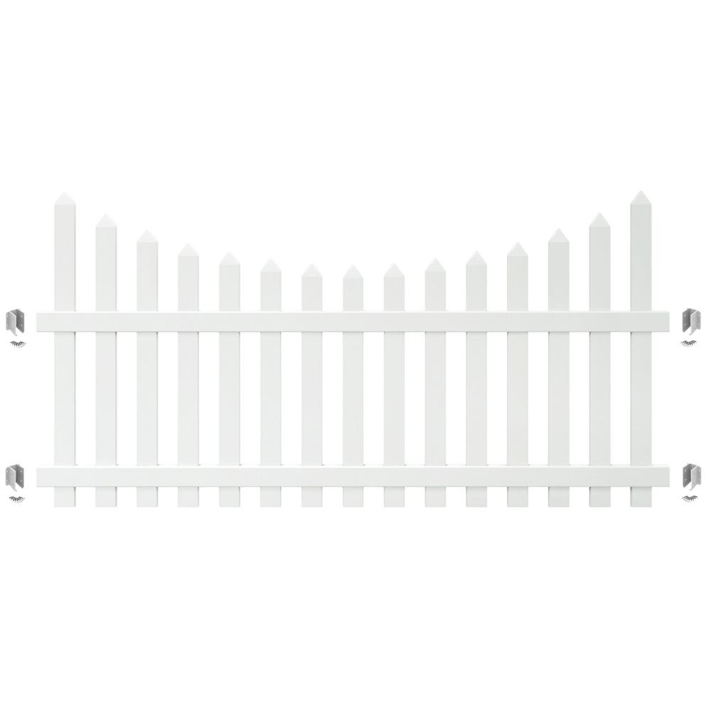 Outdoor Essentials PicketLock Pinehurst White Vinyl Fence Gate