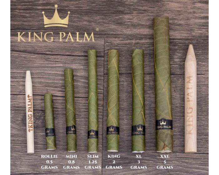 King Palm Leaf Wraps 10 MINI Size Rolls 2 Packs Authorized Seller FREEBIES