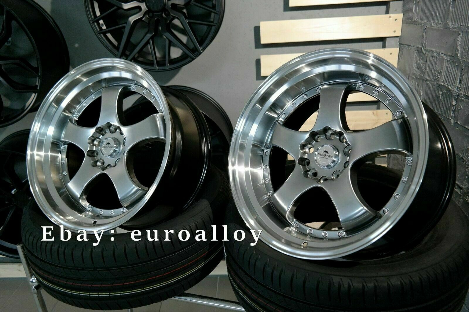 New 4x 18 Inch 5x120 Ssr Sp1 Style Rims For Bmw Jdm Work Advan Japan Wheels Ebay
